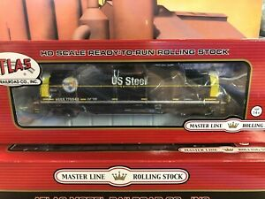 HO SCALE - ATLAS 20003955 U.S. STEEL 42' COIL STEEL CAR #170543 RARE!