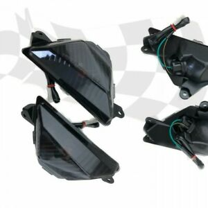 schwarze Front Blinker smoked signals Kawasaki Ninja 300 400 650 Z 1000 SX