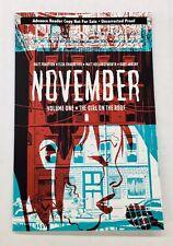 November vol 1 Matt Fraction Image Comics Advanced copy NM 🔥 Girl on the Roof