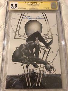 Amazing Spider-Man #1 Clayton Crain SIGNATURE SS BLACK SUIT VIRGINCGC 9.8