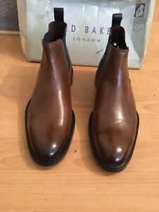 Ted Baker Zilpha Tan Leather Mens Chelsea Boot Uk 8, Eu 42, RRP£160
