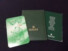 Rolex Original Card Holder + Cert booklet + Calendar Card Set