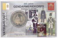 2 Euro Coincard / Infokarte Vatikan 2016 Gendameriekorps
