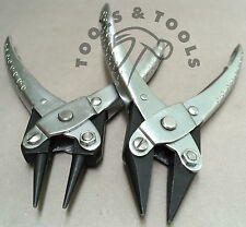 2 Piece Set Parallel Action Round Nose & Chain Nose Pliers Jewelry Wires Crafts