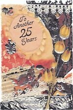 Anniversary Card with Envelope 25th Silver