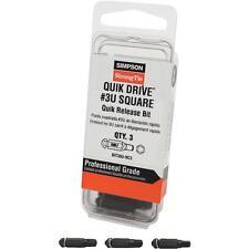 Quik Drive Undersized Square Recess #3 Screwdriver Bit 3/Pack BIT3SU-RC3