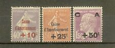 "FRANCE STAMP TIMBRE N° 249/51 "" CAISSE AMORTISSEMENT 2eme SERIE 1928"" NEUF xx TB"