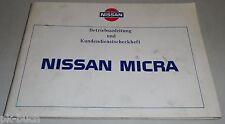 Betriebsanleitung Handbuch User's Manual Nissan Micra K10 Stand 09/1985
