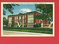 GAINESVILLE GA GEORGIA HIGH SCHOOL & GYM POSTCARD