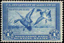 RW1 1934 FEDERAL DUCK STAMP F-VF NH light crease CAT $800
