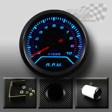 "Rev counter RPM gauge blue led smoked dial face with black surround 2""/52mm"