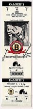 Frank Brimsek Boston Bruins Signed Boston Garden Commemorative Game Ticket COA