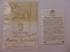 étiquette VIN  CHÂTEAU  MOUTON  ROTHSCHILD  1993 avec contre étiquette