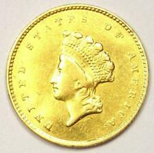 1855-O Type 2 Indian Dollar Gold Coin (G$1) - AU Details - Rare New Orleans Coin