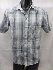 Men's Columbia Short Sleeve Button Front Casual Shirt  Check Size S         B416
