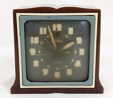 Vtg Telechron Art Deco Clock 7H101 Brown Marble Catalin Bakelite Case 1940s USA