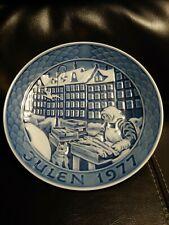 Porcelain Royal Copenhagen Denmark Hanging Plate Decoration Julen 1977 Fish