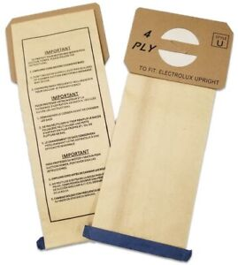 12 Aerus Electrolux Style U Replacement 4 PLY Vacuum Bags Fits ProTeam Upright