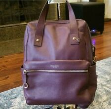 MUST SEE! Authentic Large Leather Wine Henri Bendel Backpack