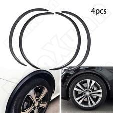"4XCar Wheel Eyebrow Arch Trim Lips Fender Flares Protector Carbon Fiber 4x 28.7"""