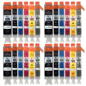 24 Cartouches d'encre (6Set) pour Canon PIXMA MG7751 MG7753 TS8051 TS8053 TS9055