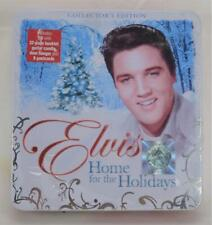 Elvis Presley Home For The Holiday CD Booklet Guitar Candle Door Hanger Postcard
