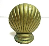 Vintage Brass Sea Clam Shell Figurine Paper Weight
