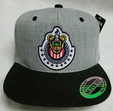 LAS CHIVAS RALLADAS DE GUADALAJARA MEXICO  HAT HEATHER GRAY BLACK SNAP BACK