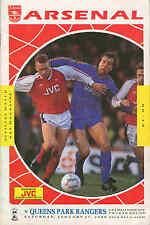 Football Programme - Arsenal v QPR - FA Cup - 27/1/1990