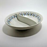 "Mid Century Modern Nordic Syracuse Carefree China Divided Bowl Split Dish 10""x8"""