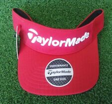 TaylorMade TM17 Performance Radar Men s Golf Visor Red Adjustable NEW 0407fbb48c01