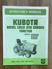 Oem Kubota Diesel Lawn and Garden Tractor G5200H G4200H G4200 G3200 Manual