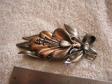 Large Art Deco Pin with Flower