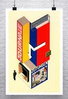 Journale 1924 Bauhaus Herbert Bayer Design Rolled Canvas Giclee Print 24x34 in.