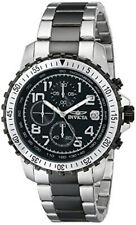 Invicta Specialty 6398 Men's Round Black Chronograph Date Stainless Steel Watch