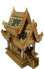 38cm gold antikes Geisteshäuschen,Thailand,durch Thai Mönche GEWEIHT,Geisterhaus