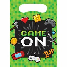 Gaming Party Supplies 8 Loot Bags Video Game Fortnite Birthday Treat Favours