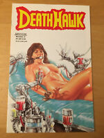 DEATHHAWK 2, NM 9.4 1ST PRINT, EARLY ADAM HUGHES 1988, PROVOCATIVE CVR