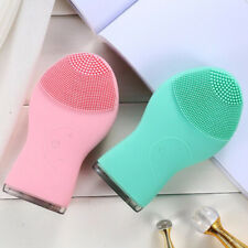 Waterproof Silicone Electric Face Cleansing Brush Massager Deep Pore Vibre Clean
