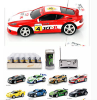 Kids Micro Racing Car Mini Coke Can Car Speed RC Radio Remote Control Toy Gifts