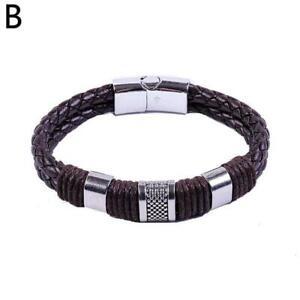 1 pc Magnetic Man Charm Masculinity Leather Bracelet 2021