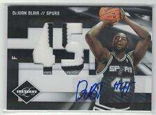 2009/10 DEJUAN BLAIR PANINI LIMITED JERSEY NUMBERS 3 CLR ROOKIE PATCH AUTO #2/5