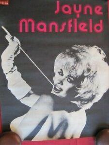 Jayne Mansfield, VINTAGE POSTER, Ca 1970