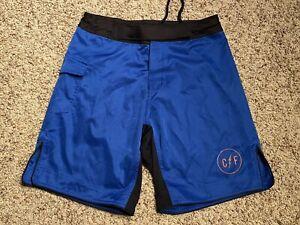 MMA Jiu-Jitsu Training Shorts Color Blue Men's Size Medium C/F Logo