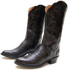 WOMENS LUCCHESE 2000 BURGUNDY GENUINE LIZARD SKIN COWBOY WESTERN BOOTS 6.5~1/2 B