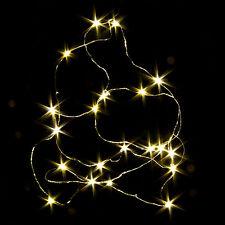 200cm Luci LED Filo Copper LIGHT 20 LED BIANCHI CALDO ideale per la corona Advent