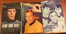 Lot of 3, Star Trek Convention Programs, '74 International, '75 (Pittsburg, NYC)