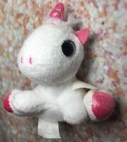 """Surprizamals Unicorn Plush White & Pink Glitter 3"""" Mini Stuffed Animal Soft Toy"""