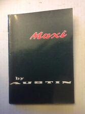 NOS 1969 Austin Maxi Owners Handbook (inglés) akd7240