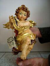 Sehr Großer Engel 28cm Holzfigur handgeschnitzt Putte Heiligenfigur Schnitzerei